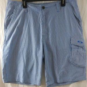 Oakley Size 38 Striped Golf Athletic Shorts